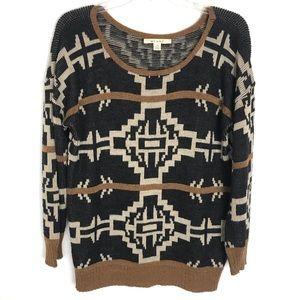 Miami Brand long sleeve Southwest Aztec sweater M